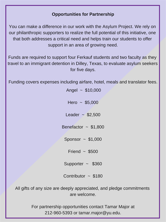 Ferkauf Graduate School of Psychology - Ferkauf's Asylum Project